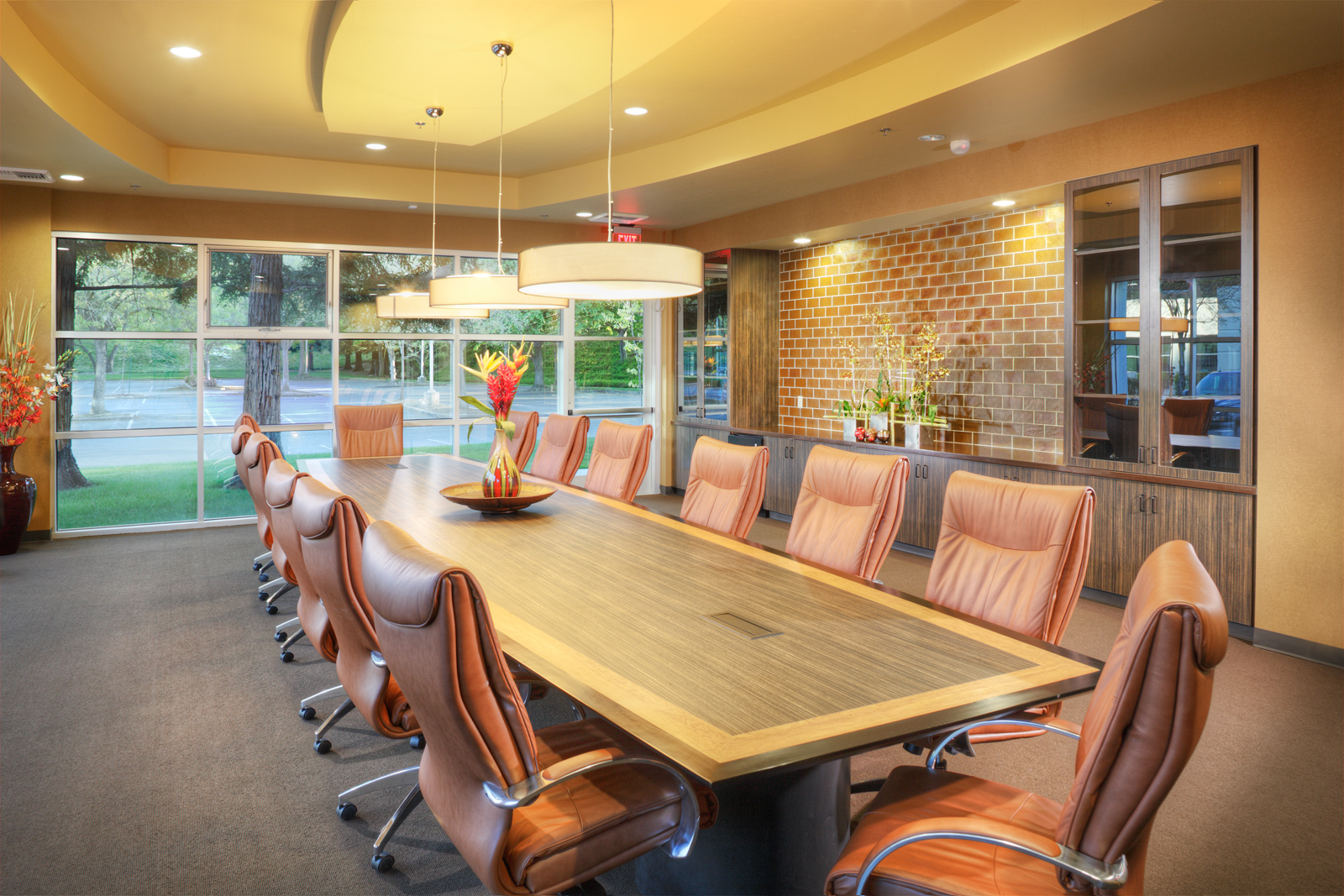 California professional firefighters office interior for Professional interior decorator